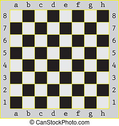 Chessboard with yellow screen ruling
