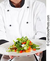 chef, professionale, presentare