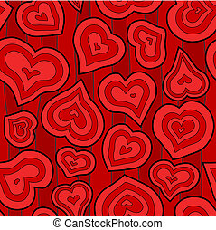 Seamless Inset Heart Background
