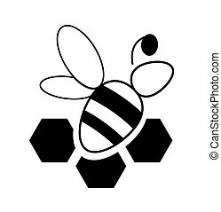 striped bee sign