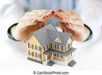 Hands and house model