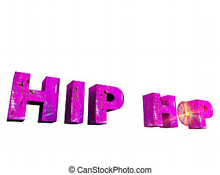 hip hop - the word hip hop in 3 d letters