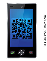 Smartphone with QR-Code