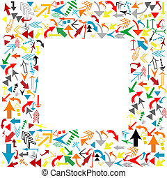 Frame with colored arrows