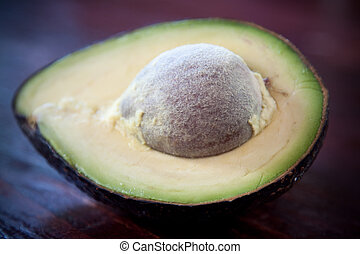 Avocado close-up - A closeup shot of a sliced avocado...