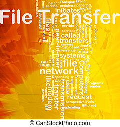 File transfer background concept