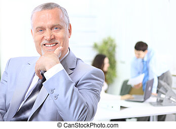 Portrait of a senior business man - Portrait of a senior...