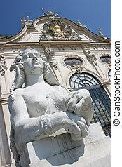 Belvedere castle - Famous Belvedere castle in Vienna,...