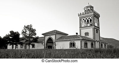 Andalucian mosque in monochrome