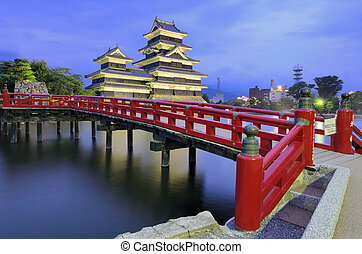 Matsumoto Castle in Matsumoto, Japan - The historic...
