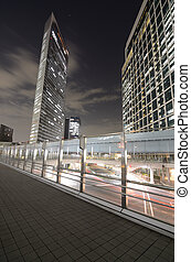 Tokyo Luxury High Rises - Hgh rises over a pedestrian...