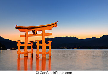 Miyajima Tori Gate - The otori gate which welcomes visitors...