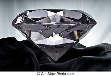 Diamond on Black Satin - Brilliant Diamond on Black Satin