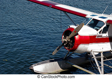 Moored sea plane in Vancouver