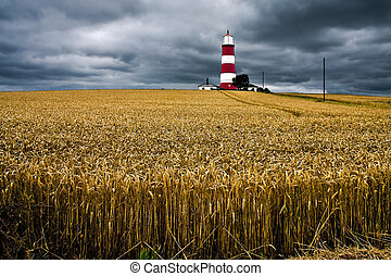 Storm approaching Happisburg Lighthouse