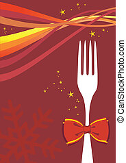 Christmas cutlery background