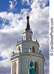 russian orthodox church - Belltower of old russian orthodox...