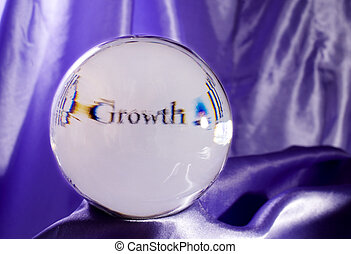 GROWTH is in Your Future! - Crystal Ball Displaying the Word...