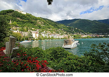 View of Montreux, Switzerland - View of Montreux city from...