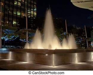Water fountain night shot