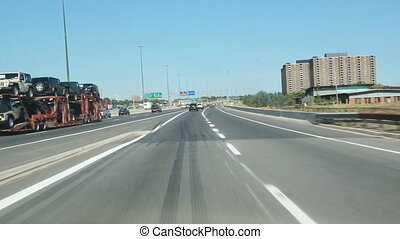 Highway onramp. - Entering Highway 401 via an onramp....