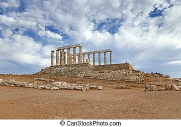 Ruinas, Poseidon, templo, grecia