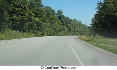 Summer RV. - Passing a recreation camper on a rural road....