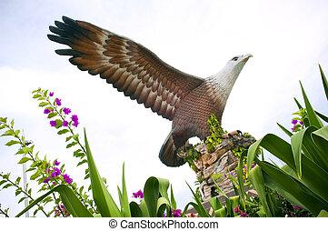 Langkawi Eagle - Statue of an eagle, the symbol of Langkawi,...
