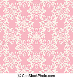 Seamless floral retro pattern - Illustration vector