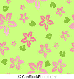 Flower seamless background. Vector