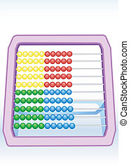 Multi-coloured abacus - Illustration of multi-coloured...