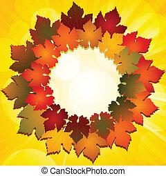 Autumn leaf border