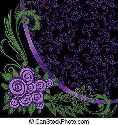 Asymmetrical purple background - asymmetrical black...