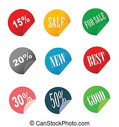 sale tag stickers vector illustrati