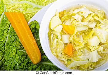 Parzybroda-Savoy cabbage soup - Parzybroda a Polish regional...