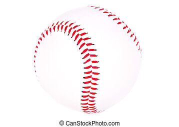 baseball - a baseball isolated before white background