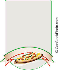 pizza background - vector illustration background with pizza...