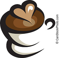 coffee icon - cup of coffee line art illustration isolated...