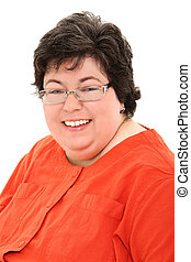 Confident and Happy Obese Woman Business Portrait - Business...