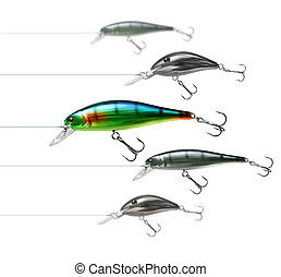 Attractive fishing lure - Only one fishing lure wobbler is...
