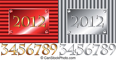 Corrugated metal with all numbers