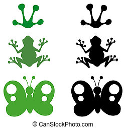 Cartoon Different SilhouettesVector Collection