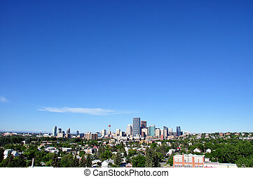 Calgary skyline - Skyscrapers towering over Calgary Alberta...