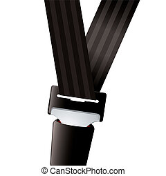 Car seat belt clip in - Modern seat belt for car clipped in...