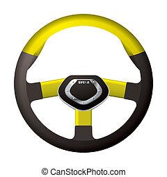 Sports steering gold wheel - Modern sports steering wheel...