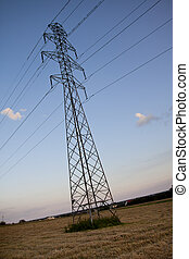 landscape with high tension wires