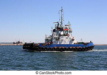 tugboat - moving tugboat