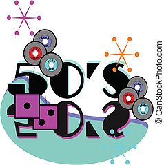 50's rock and roll background - background for retro 50's...
