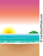 Beach Background 8 - Vector Illustration of Beach Background...