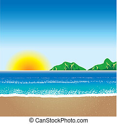 Beach Background 2 - Vector illustration of Beach Background...